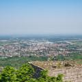 Sicht auf Bühl von der Burg Windeck