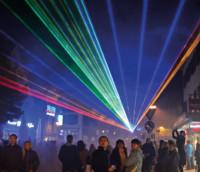 Einkaufszauber mit Lasershow