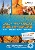 Plakat Verkaufsoffener Sonntag in Bühl