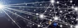 Lichtpunkte als Netzwerk-Knoten