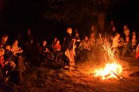 Lagerfeuer bei der Märchenwanderung