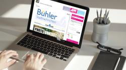 Laptop mit Online-Zugang der Bühler Stadtnachrichten