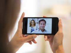 Videokonferenz auf einem Handy