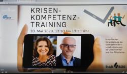 Standbild von Online-Seminar mit Elke Schulmeister und Rainer Hatz