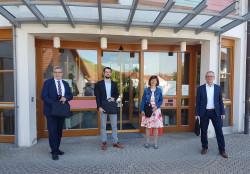 Laptopübergabe in Bühlertal mit Hans-Peter Braun, Eduard Itrich, Sabine Ganter-Meier und Wolfgang Jokerst