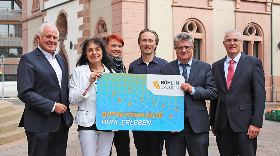 Gutscheinkarte von Bühl in Aktion e.V.