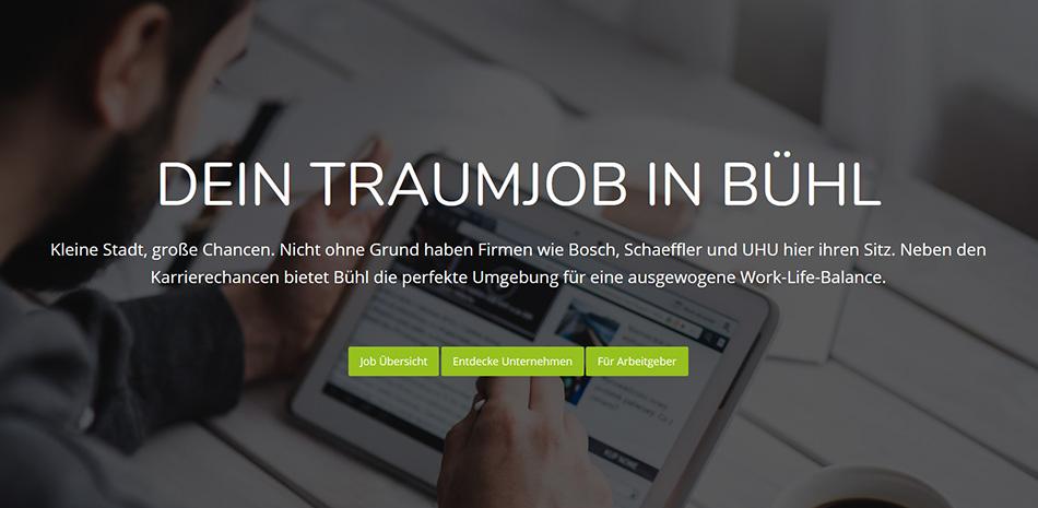 Webseite www.buehl-jobs.de
