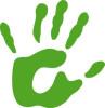 Konzept der grünen Hand