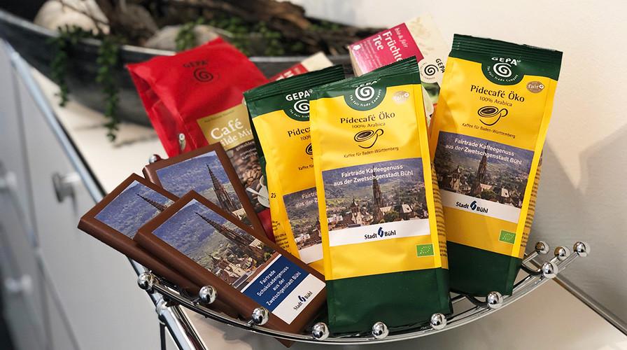 Fairtrade-Kaffee, -Tee und -Schokolade