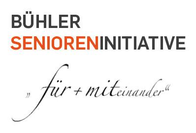 """Logo Bühler Senioreninitiative """"Für + Miteinander"""""""