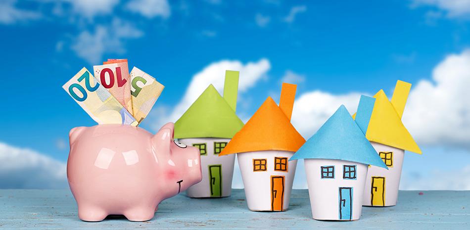 Häuser mit Sparschwein