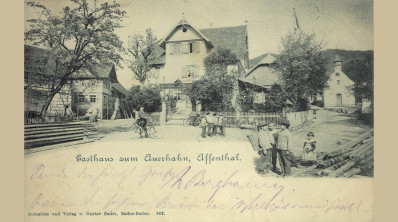 """Affental, Gasthaus """"Auerhahn"""", um 1900"""