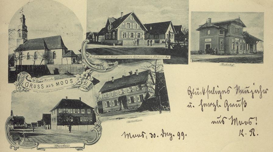 Moos, Postkarte, um 1898/99