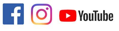 Soziale Netzwerke: Facebook, Instagram, Youtube