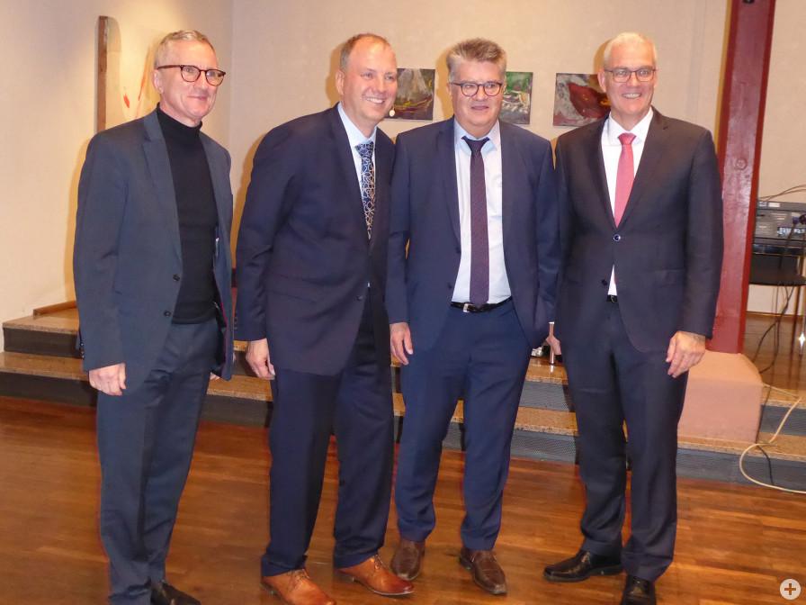 Wolfgang Jokerst, Uwe Burkert, Hubert Schnurr und Frank König beim Bühler Wirtschaftsforum Spezial