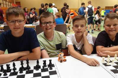 Für das Windeck-Gymnasium Bühl spielten Henrik Puchas, Jakub Kubarski, Dominik Feuerer und Maximilian Friedmann