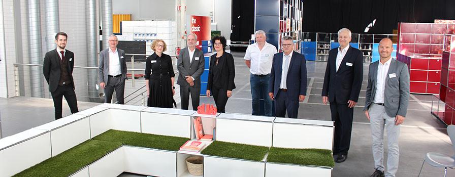 Vertreter der beteiligten Akteure von KIT, TRK, Stadt Bühl und USM.